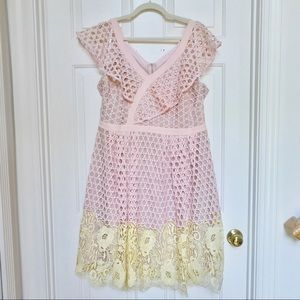 Donna Morgan pink Lace Dress 16